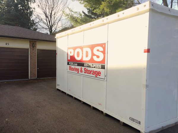 POD container at house