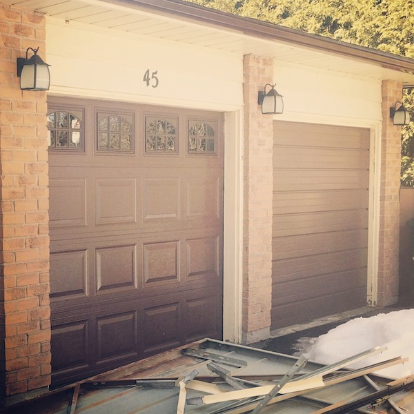 Garage doors getting replaced (c) Allyson Scott