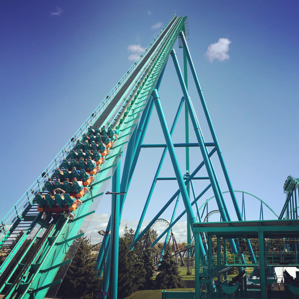 The Leviathan roller coaster at Wonderland © Allyson Scott