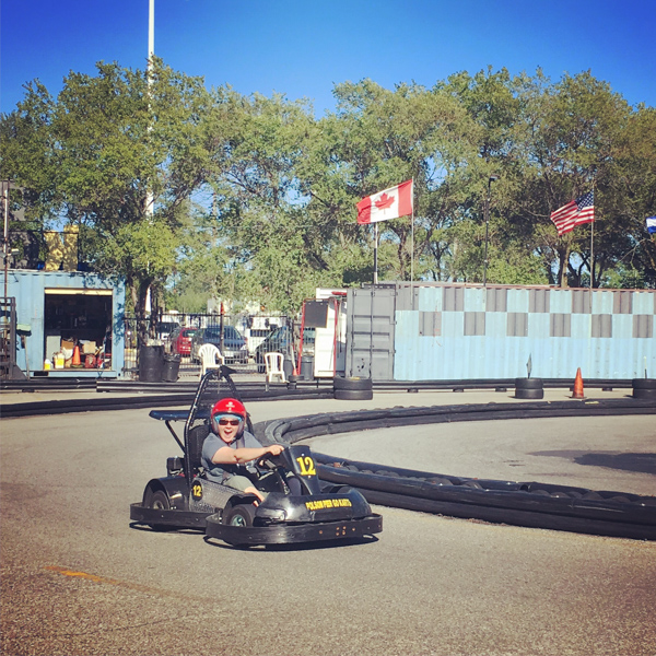 Having a blast go-karting © Allyson Scott