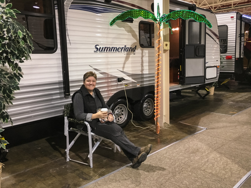 Jody at the RV Show